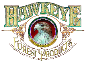 Hawkeye Forest Products logo and link to their website
