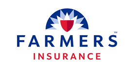 Farmer's Insurance logo and link to a district website