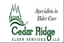 Cedar Ridge Elder Services logo and link to their website