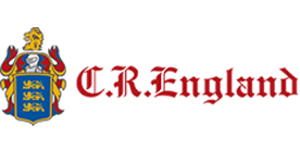 C.R. England logo and link to their website